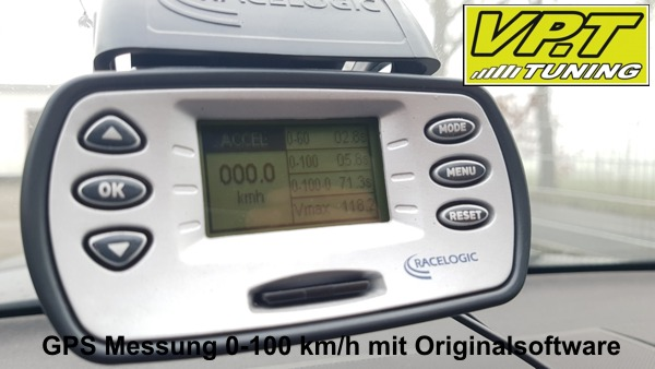 0-100 km/h Messung Originalsoftware