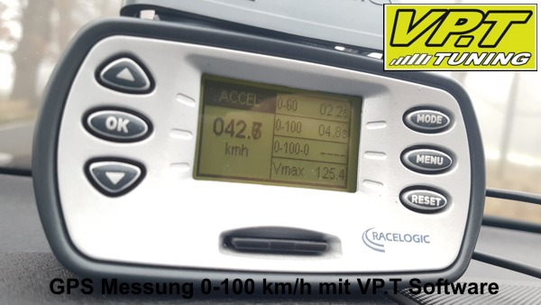 0-100 km/h Messung VP.T Software