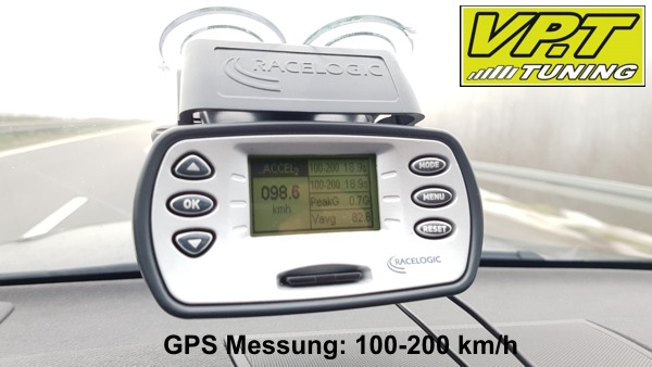 100-200 km/h Messung Originalsoftware